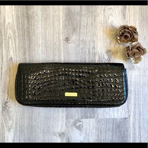 NEW Charles David Black Patent Leather Clutch